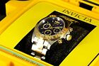 Invicta Speedway Signature 18k Gold IP 2 Tone Chronograph Tachymeter Mens Watch