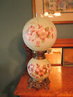 GONE WITH THE WIND VINTAGE 3 WAY FANCY FLORAL DISPLAY HURRICANE LAMP