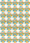 Happy Cloud Happy Mail Stickers Yellow Text 37mm Paper Rounds