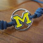 new NCAA MICHIGAN WOLVERINES CHARM STRETCH BRACELET HAIR TIES Set of 2 jewelry