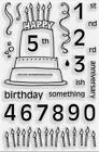 STAMPENDOUS Clear Stamps FIFTEEN CANDLES Birthday Anniversary Happy 1st 2nd 3rd