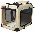 EliteField Beige 3 Door Folding Soft Dog Crate Cage Kennel 5 Sizes