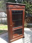 Antique Cherry Corner Cupboard Cabinet Display Case Eastlake ..PRICE REDUCED!