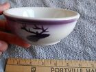 PURPLE ELK BOWL   AIRBRUSHED JACKSON CHINA VERY NICE  CONDITION