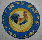 FITZ & FLOYD COQ DU VILLAGE BLUE ROOSTER SALAD PLATE NEW!  RARE