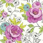 ARTHOUSE OPERA LUXURY CASSI HAND PAINTED FLORAL FLOWER BLOOM WALLPAPER ROLL PINK