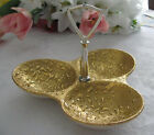 Vintage Weeping-Bright Gold Hand Decorated 3 Section Serving Tray