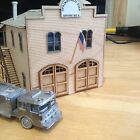 CSM NORTHEASTERN HO SCALE SPRINGFIELD FIRE STATION  WOOD CRAFTSMAN KIT NE40023