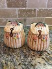 Fish Basket Lures Salt And Pepper Shakers