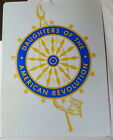 1960 DAR 18 X 24 HEAVY CAST ALUMINUM SIGN DAUGHTERS of the AMERICAN REVOLUTION