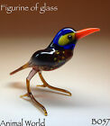 Figurine Bird Tit Blown glass Russian Art Handmade Miniature
