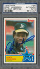 1983 Topps #391 Rickey Henderson PSA DNA Certified Authentic Auto *4657