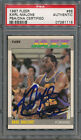 1987 88 Fleer #68 Karl Malone PSA DNA Certified Authentic Auto Autograph *1118
