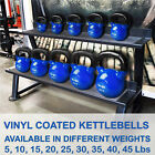 Kettlebell Cast Iron Vinyl Coated Weight Fitness 5 10 15 20 25 30 35 40 45 lbs