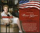 PALAU 2016  NANCY REAGAN, US FIRST LADY, SET OF TWO SOUVENIR SHEETS  MINT NH