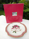 RARE FITZ & FLOYD ESSENTIALS HOLIDAY BELLS CANAPE PLATE / WALL HANGING
