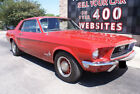 Ford Mustang Coupe 1968 Ford Mustang Coupe 289ci Automatic Power Steering Power Brakes