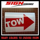 Tow Arrow Sticker Decal Vinyl Multiple Colors Sizes Race Car