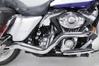 Chrome High Output 2 into 1 Exhaust Pipe System Harley Touring Bagger Dresser