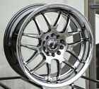 XXR 526 17X9 Rims 5x100 1143 +25 Chromium Black Wheels Set of 4