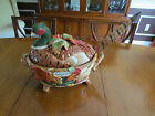 Large Retired FITZ & FLOYD Pheasant Soup Tureen Huntington 78/360 Hard to Find