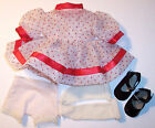vintage  Ideal Shirley Temple dotted swiss dress panties socks shoes 1960's LOOK