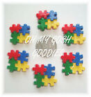 6PC AUTISM AWARENESS AUTISTIC PUZZLE SIGN FLATBACK RESINS 4 HAIRBOW BOW CENTER