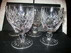 set of 4 WATERFORD CRYSTAL WATER GOBLETS Donegal Pattern