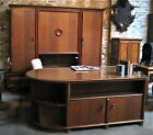 ART DECO OFFICE SALON SET, CREDENZA/BOOKCASE/FILE CABINET, DESK, CHAIR 1930'S