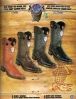 Wild West Mens Rodeo Toe Full Vamp Caiman Belly Cowboy Western Boots DiffColors