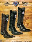 Wild West Mens 6X Toe Caiman Belly Cowboy Western Boots Different Colors