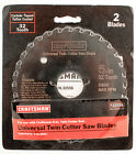 Craftsman 5 Carbide Tipped Replace Blades 2 Pack Universal Twin Cutter 32 Teeth
