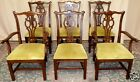 ETHAN ALLEN DARK CHERRY DINING CHAIRS Chippendale Style Set of 6 VINTAGE