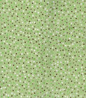 SNUGGLE FLANNEL Green Brown White Dots Cotton Fabric BTY