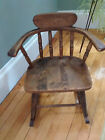 SWEET VINTAGE CHILD'S WOODEN ROCKING ROCKER CHAIR BEAUTIFUL CONDITION