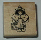 Girl wearing Clogs DOTS Rubber Stamp Hippy Look New