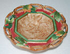 Fitz Floyd CHRISTMAS LODGE serving bowl Leaves Berry Holly Centerpiece 9