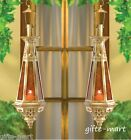2 Moroccan 23 tall gold amber teardrop hanging Lantern Candle holder terrace