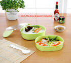 Two Layers Children Kids Portable Bento Lunch box With Spoon food safe Plastic