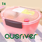 New Portable Safe Plastic Food Fruit Container Bento Lunch Box Frensh Microwave