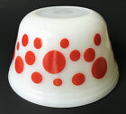 Federal USA Red Dots Spots White Milk Glass 8