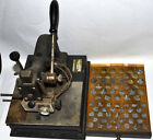 VINTAGE GOLDPRESS HOT FOIL GOLD LEAF STAMPING MACHINE WITH LOTS A 2 SIZE LETTERS