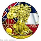 2015 1 oz Silver Coin American Eagle US States Mississippi Flag 24K Gold