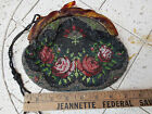 Antique Vintage Beaded Purse Bag-TORTOISE Frame