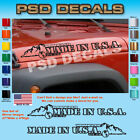 Jeep WRANGLER Made In USA Mountain Hood Decal Stickers 1 Pair SH 1140