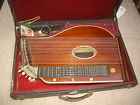 old alpine Harp Zither with beautiful inlays of MoP