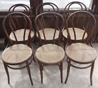 6 Vintage Antique Bentwood Ice Cream Parlor / Cafe Chairs Thonet?