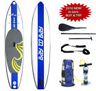 Bay2Bay Racing Inflatable SUP Stand Up Paddle Board Comptelte Pack 12x31x6 Blue