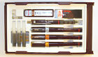ROTRING RAPIDOGRAPH COLLEGE 3 PENS 20 40 60 PENCIL 3 CARTRIDGES S0699540