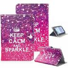 Keep Calm And Sparkle 7 Universal Leather Box Case For Acre Alcatel ASUS Amazon